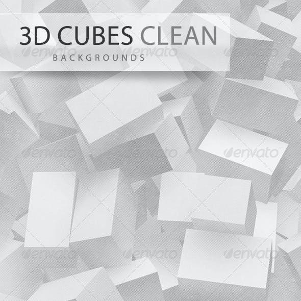 3D Cubes Clean Backgrounds