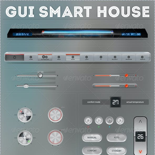 GUI Smart House - Retina Ready