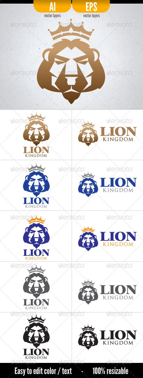 Lion Kingdom - Logo Template - Animals Logo Templates