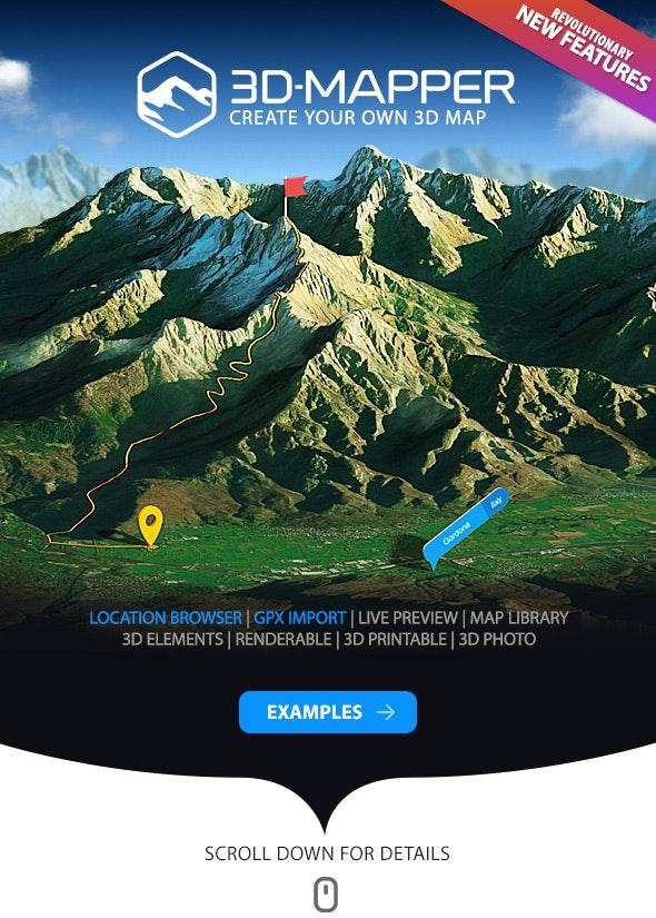3D Map Generator - 3D Mapper - Photoshop Plug-in - Utilities Actions
