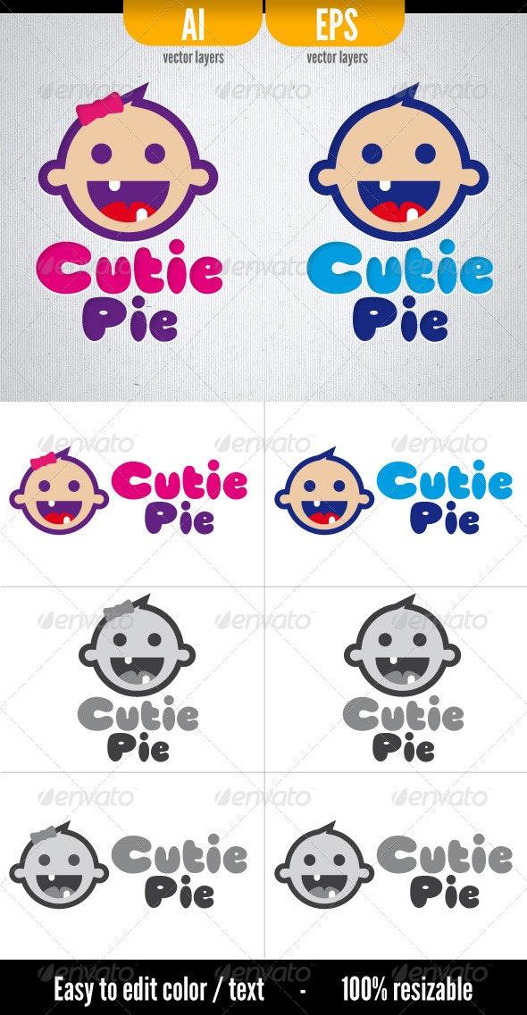 Cutie Pie - Logo Template - Humans Logo Templates