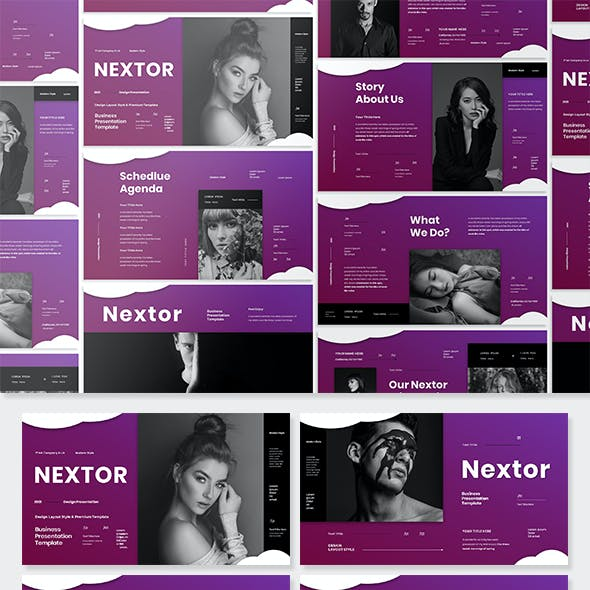 Nextor - Business Presentation PowerPoint Template