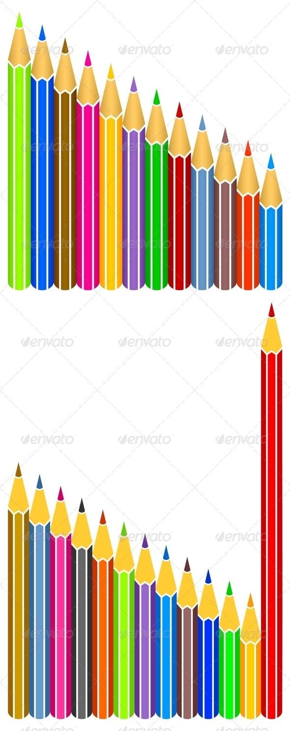 Colored pencils. - Objects Vectors