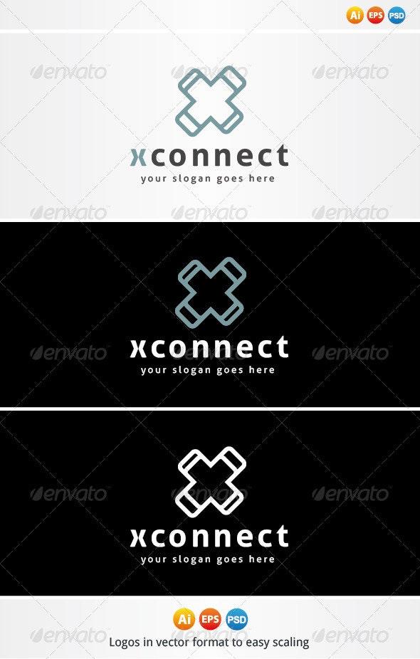 X Connect Logo - Letters Logo Templates