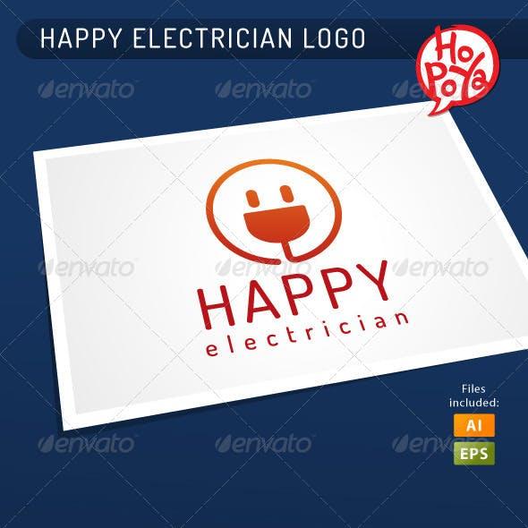 Happy Electrician Logo