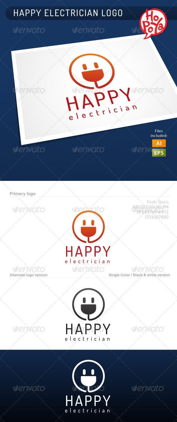 Happy Electrician Logo - Symbols Logo Templates