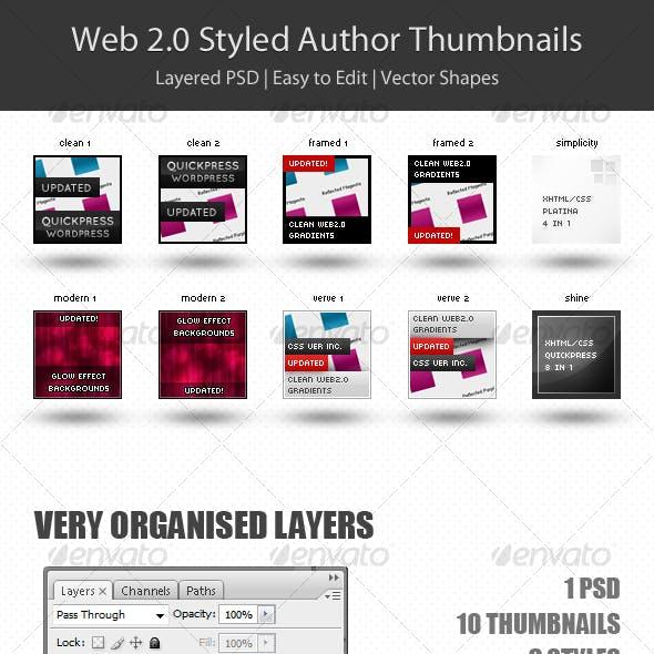 Web 2.0 Styled Author Thumbnails