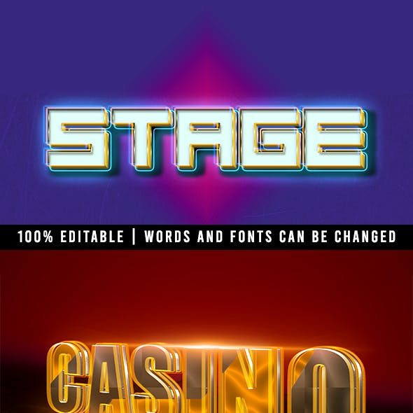 Stage Theme Text Effects
