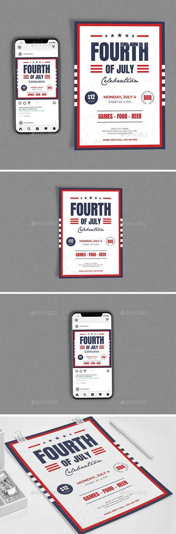 Fourth Of July Template Set - Events Flyers