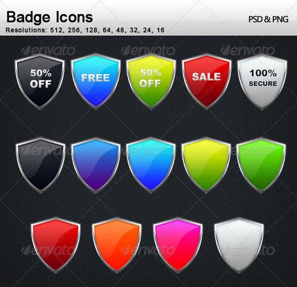 Badge Icons - Web Icons