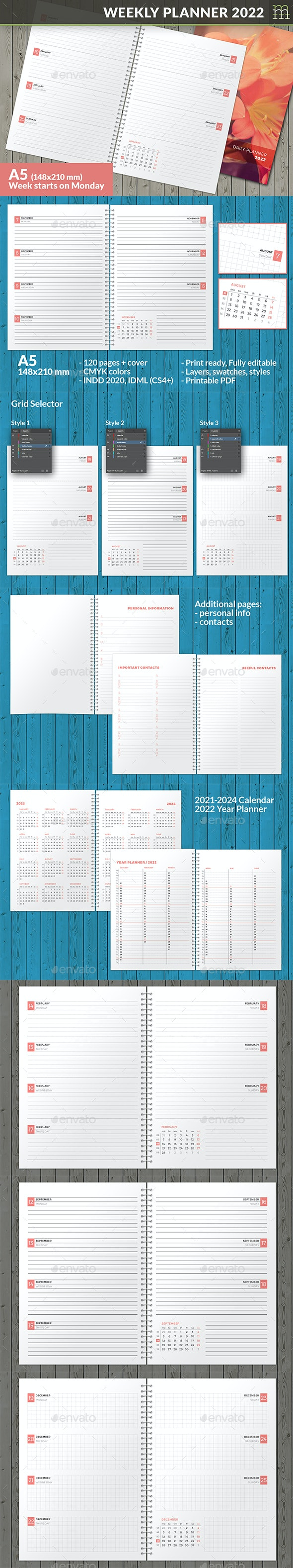 Weekly Planner 2022 - Calendars Stationery