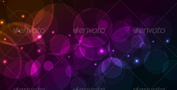 Abstract background with glowing circles - Web Technology
