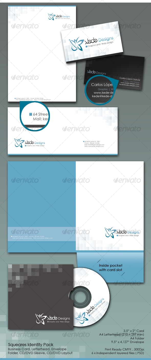 Squares identity pack - Miscellaneous Print Templates