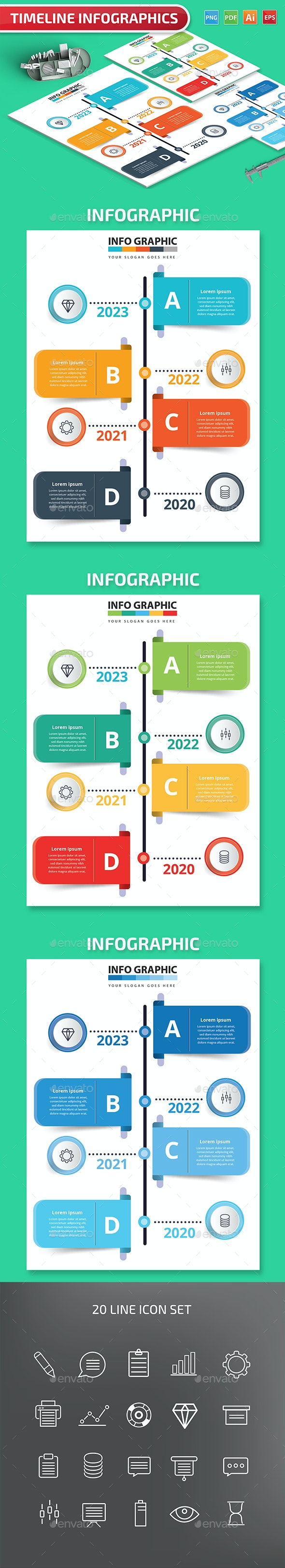 Timeline Infographics design - Infographics