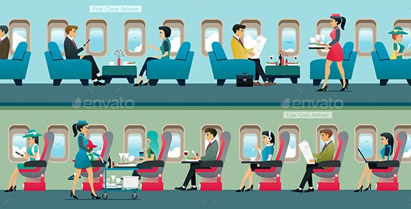 First class airlines. - Travel Conceptual