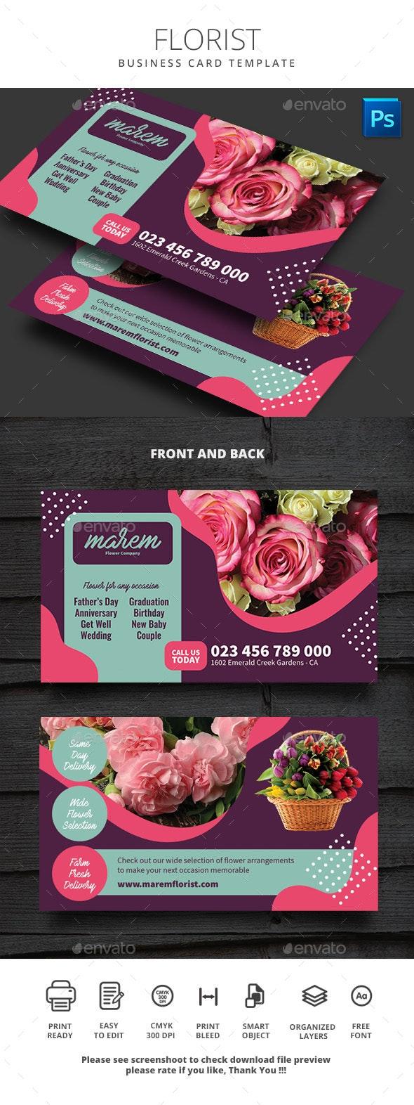 Florist Business Card Template - Business Cards Print Templates