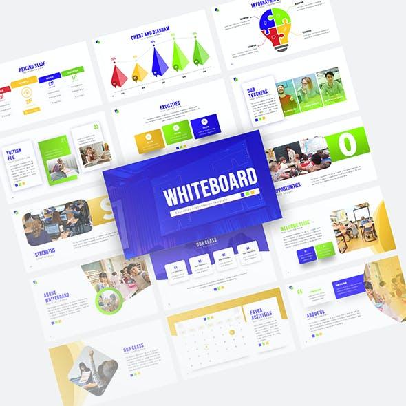 Whiteboard Education Presentation Template