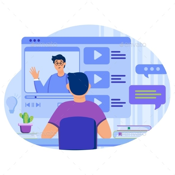 Video Tutorials Concept - Computers Technology