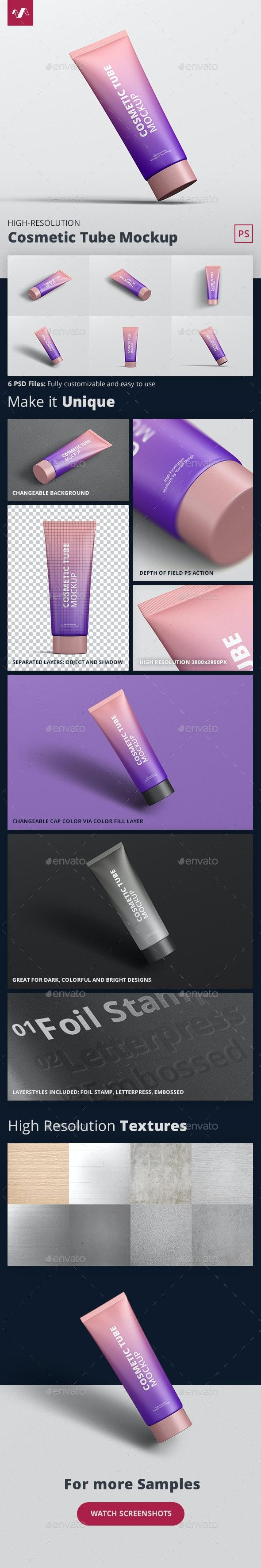 Cosmetic Tube Mockup - Beauty Packaging