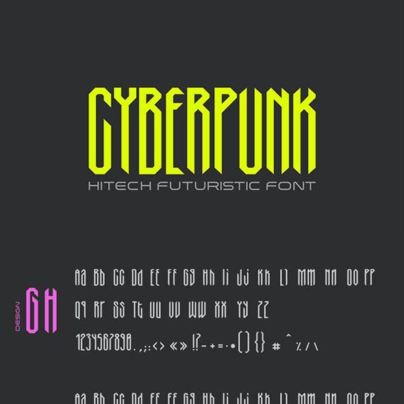Cyberpunk Technology Gothic Condensed Font