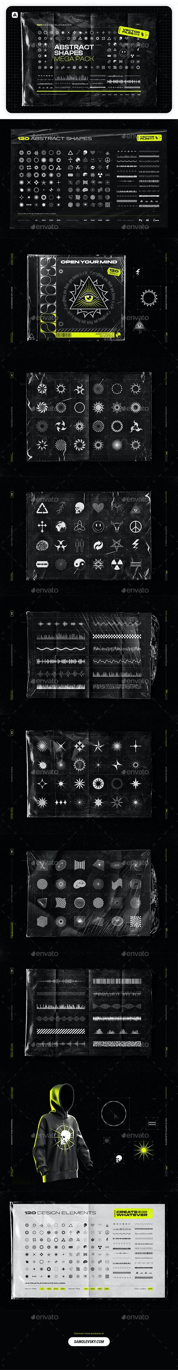 Abstract Shapes Mega Pack - Decorative Symbols Decorative