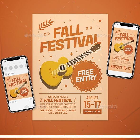 Fall Festival Flyer Set