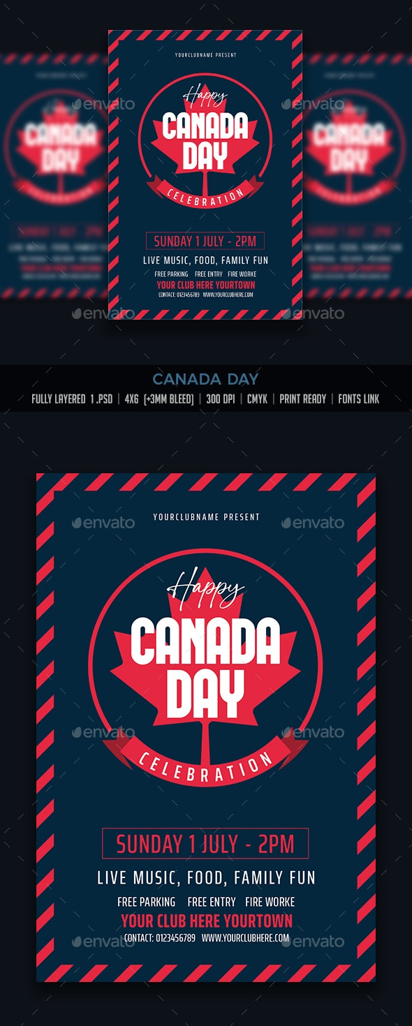 Canada Day - Events Flyers