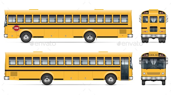 Yellow School Bus - Man-made Objects Objects