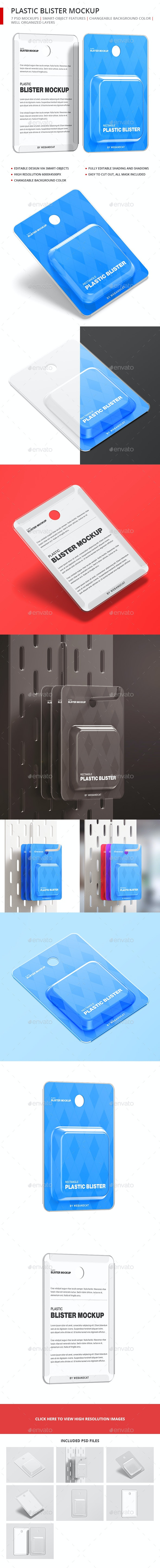 Plastic Blister Mockup - Rectangle - Miscellaneous Packaging