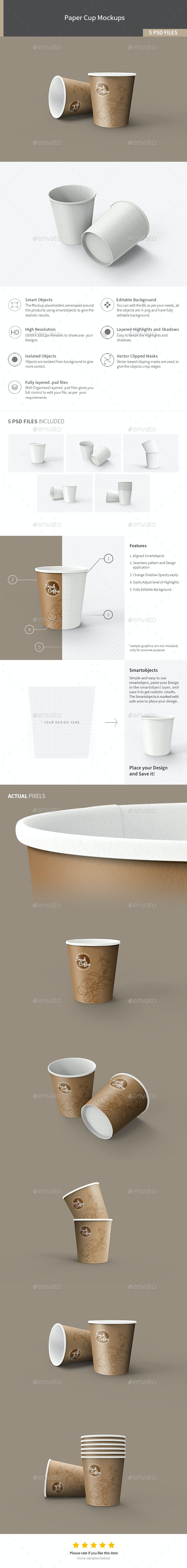 Paper Cup Mockups - Food and Drink Packaging