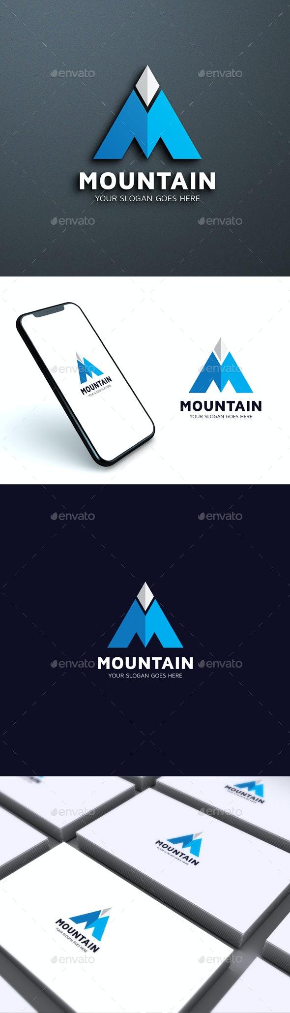 Mountain – M Letter logo Template - Logo Product Mock-Ups