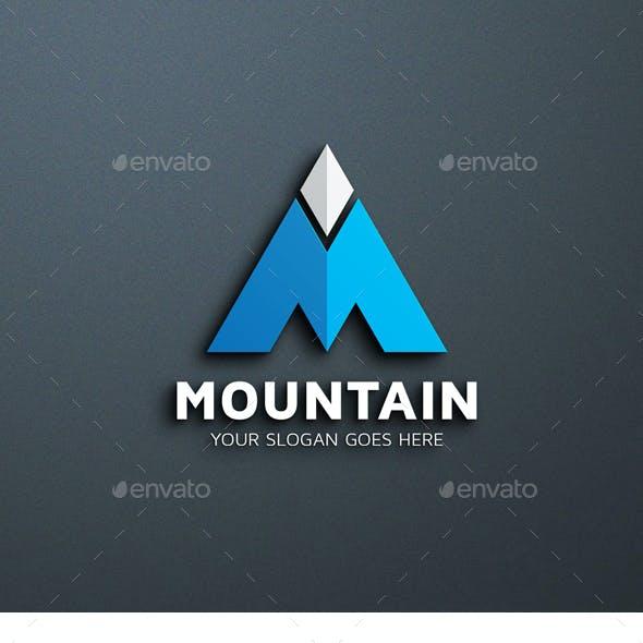 Mountain – M Letter logo Template