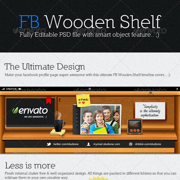 Facebook Wooden Shelf