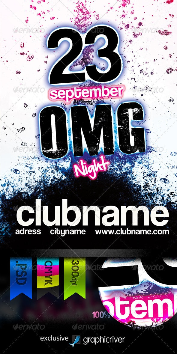Omg Night Flyer - Clubs & Parties Events
