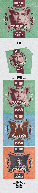 Rock Flyer/Poster - Concerts Events