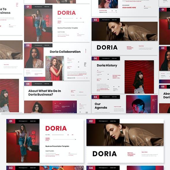 Doria - Business Presentation PowerPoint Template