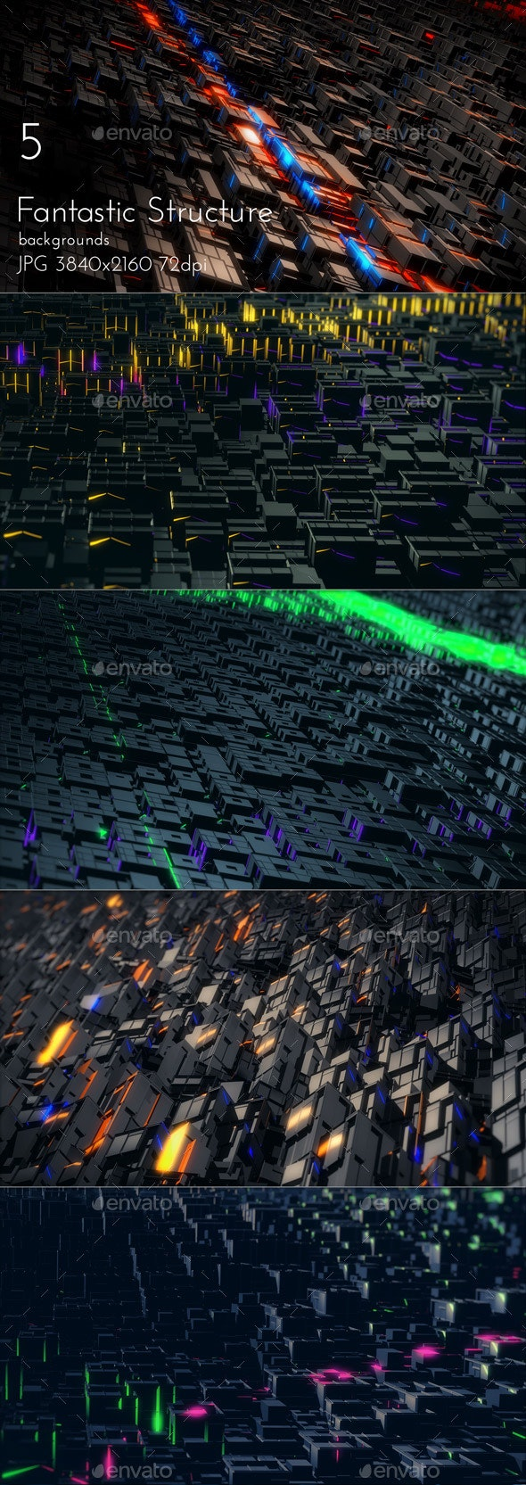 Fantastic Structure Abstract Background - Tech / Futuristic Backgrounds