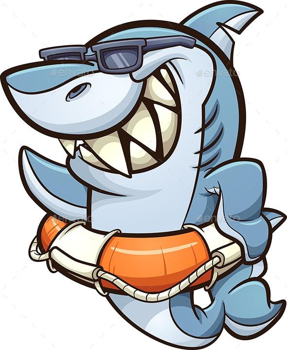 Lifesaver Shark - Animals Characters