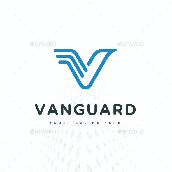 Letter V Eagle Vanguard Logo