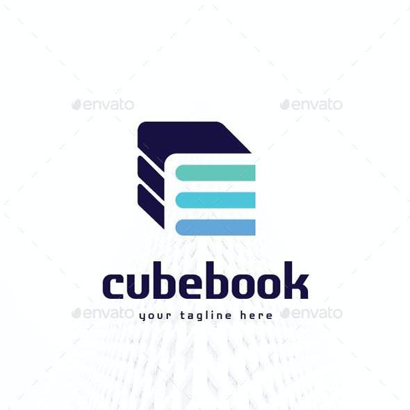 Letter E Cube Book Logo