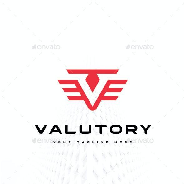 Letter V Wing Valutory Logo