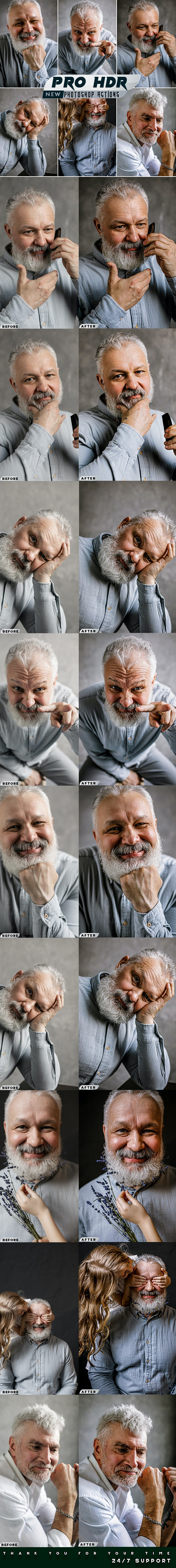 PRO HDR Photoshop Actions - Photo Effects Actions