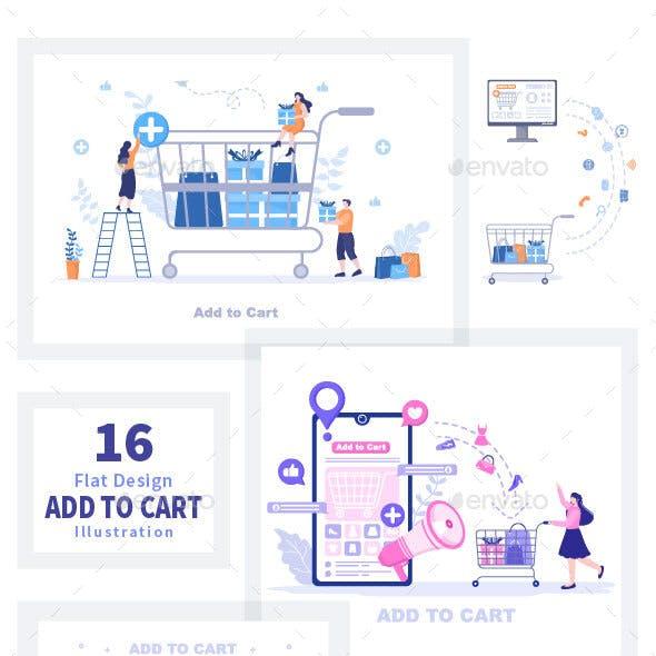 cart store conceptual vectors from graphicriver  graphicriver