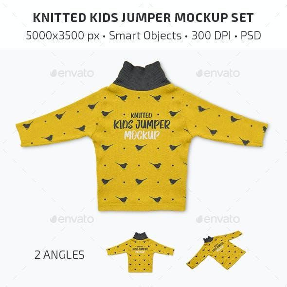 Knitted Kids Jumper Mockup Set