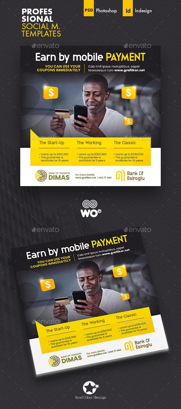 Mobile Payment Social Media Templates - Social Media Web Elements