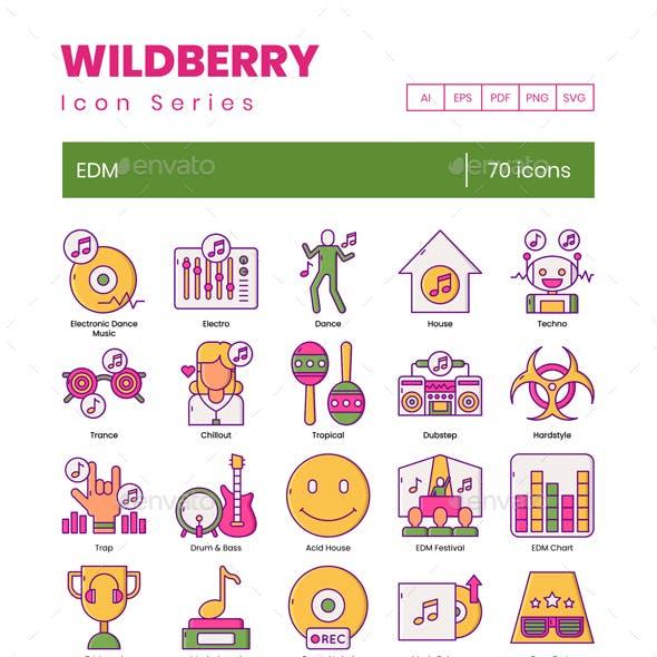 70 EDM Icons | Wildberry Series