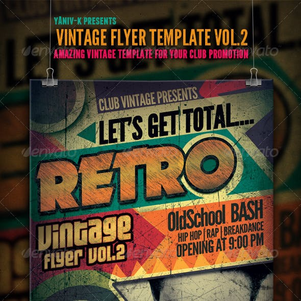 Vintage Flyer Template Vol.2