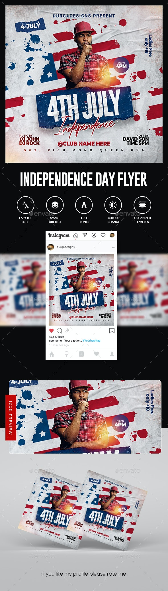 Independence Day Flyer - Flyers Print Templates