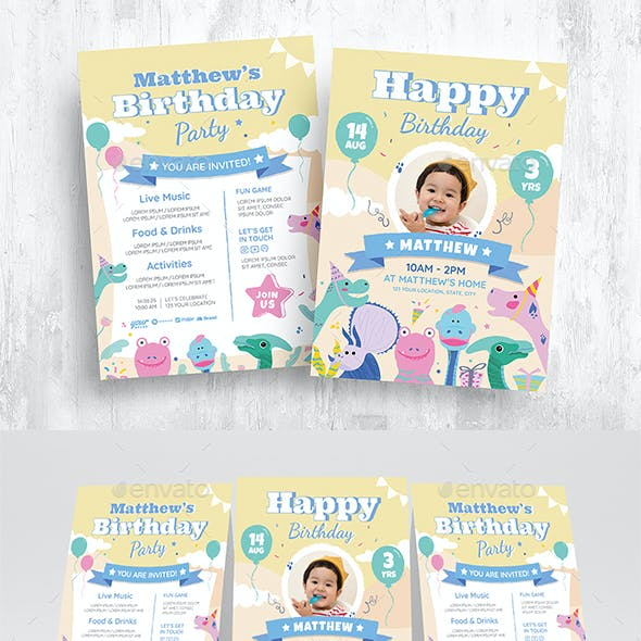 Boy Birthday Flyer invitation