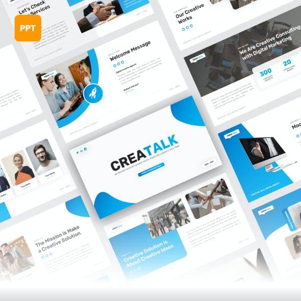 Creatalk - Digital Marketing PowerPoint Template
